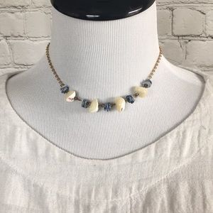 Vintage Gold Necklace with Stones